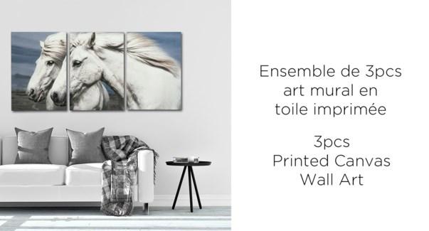 Horse 3PC Canvas Wall Art - 38x57x2.5(3) - 6B