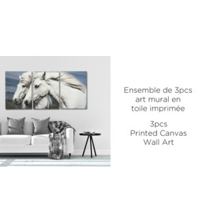 Horse 3PC Canvas Wall Art - 38x57x2.5(3) - 6B