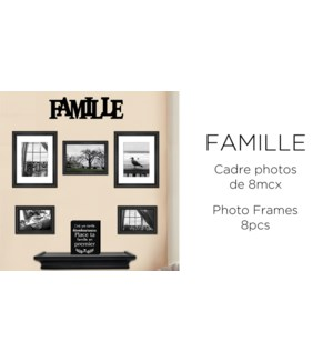 Famille 8PC Wall Frame - 8B