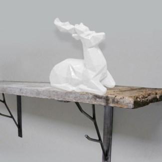 Wildlife Figurine Wht Deer 4b