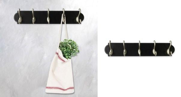 Wall Hooks Black - 49x9x6,5 - 6B