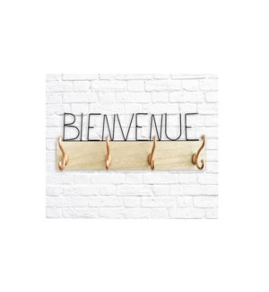 Bienvenue wire Wall Rack -45x7x17cm-6B