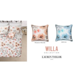 "Willa Cushion Asst 20x20"" 12b"