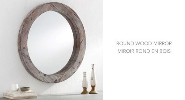 Round Mirror 60x60x3.8CM 1/B