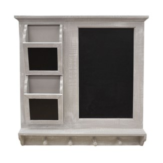 Wood wall rack and chalkbd 59x63.5x9cm 2/b