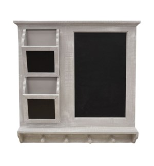 Wood wall rack and chalkbd 59x63.5x9cm 2/b