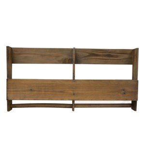 Wooden wall rack with hooks 61x7x30cm 4/b