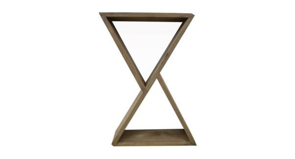 Wooden wall rack 60x13x60cmcm 2/b
