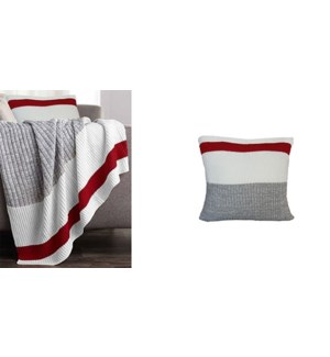 Coussin de tricot chaussette de travail  gris 18*18
