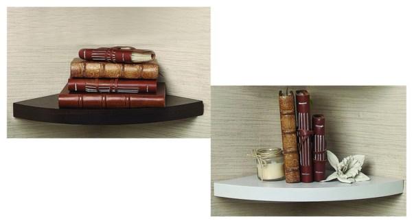 CORNER Wall Shelf 23.5X23.5X8 ASST 10b