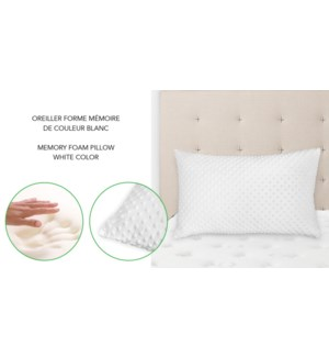 MEMORY FOAM CHOPPED PILLOW 16X26 WHITE 6/B