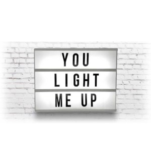 LED TEXT BOX-30X22X4.5CM 8/B