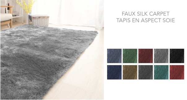 150D silk carpet graphite 90*114