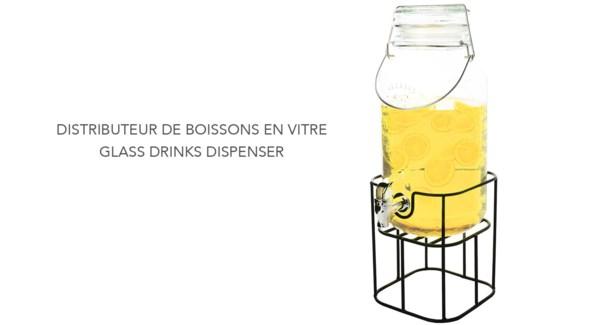 DISTRIBUTEUR DE BOISSON VERRE 4 L