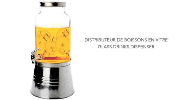 DISTRIBUTEUR DE BOISSON VERRE 5L