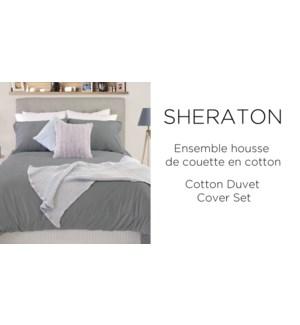 SHERATON Cotton Duvet Cover Set queen 3B