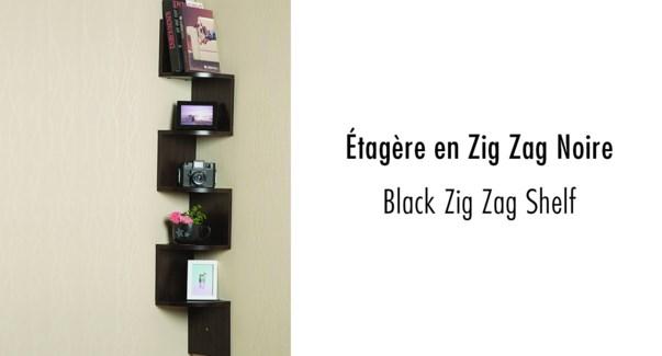 Zig Zag Shelf Black 19.5x19.5x123 2b