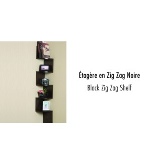 Zig Zag Shelf Black 19.5x19.5x123 2b