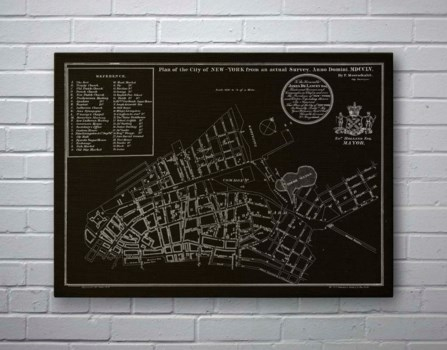 NYC Map on Black-Maps and Historical