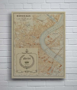 Bordeaux Map Merlot-Maps and Historical