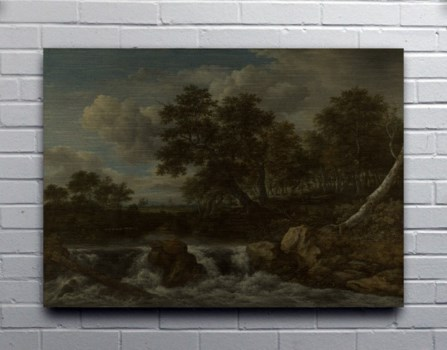 Landscape with Waterfall-Seascapes
