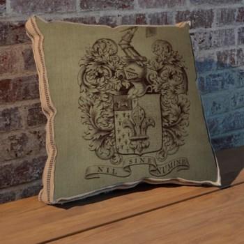 Fleur Crest pillow-Design Elements