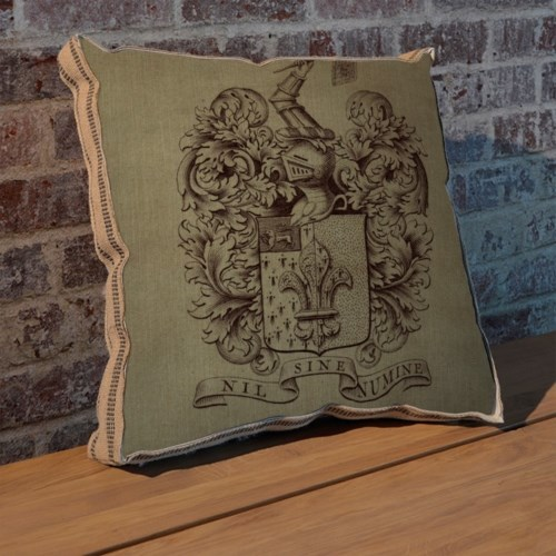 Fleur Crest pillow-Decorative Elements