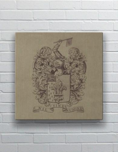 Fleur Crest square-Design Elements
