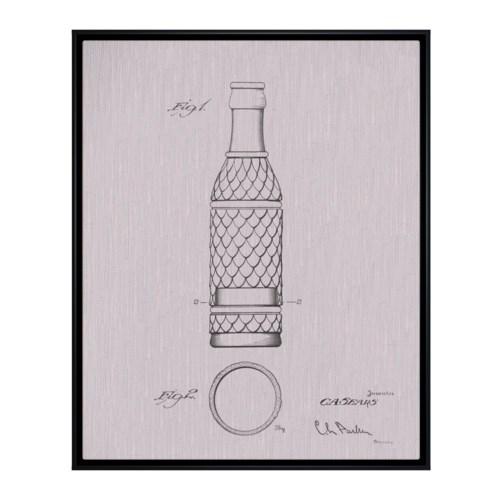 Vintage Soda Bottle I white