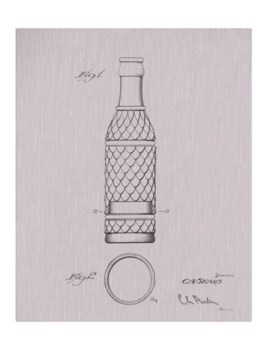Vintage Soda Bottle I -white  -Fashion and Entertainment