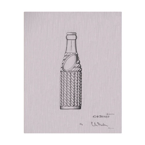 Vintage Soda Bottle II white