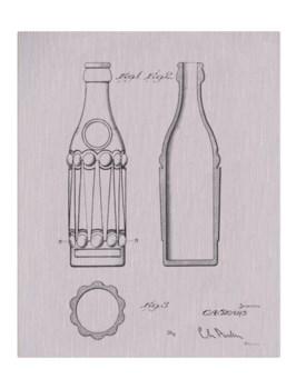 Vintage Soda Bottle III-white  -Fashion and Entertainment