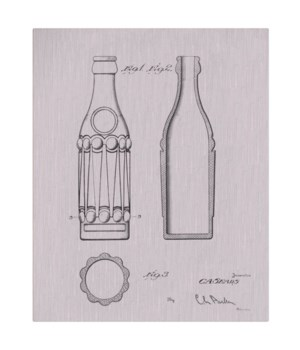 Vintage Soda Bottle III-white  -Fashion and Entertainment