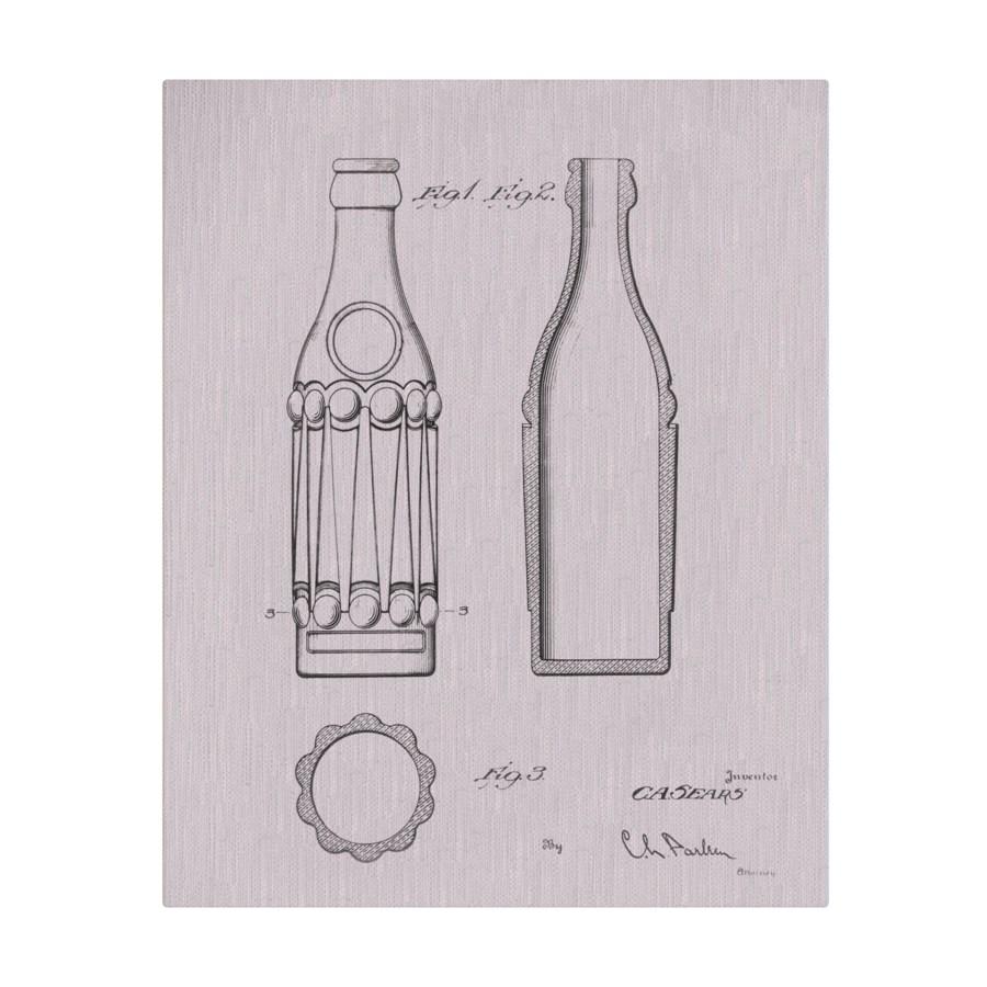 Vintage Soda Bottle III white
