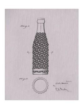Vintage Soda Bottle IV-white  -Fashion and Entertainment