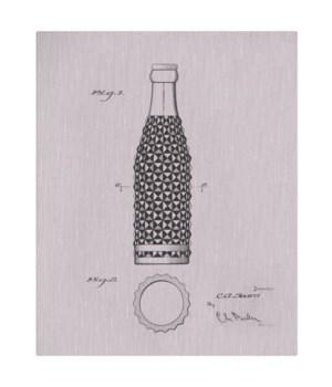 Vintage Soda Bottle IV-white  -Fashion and Entertainment