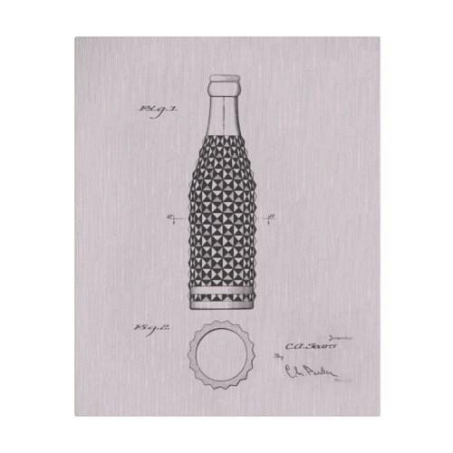 Vintage Soda Bottle IV white
