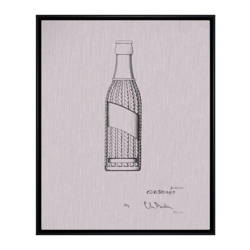 Vintage Soda Bottle V white