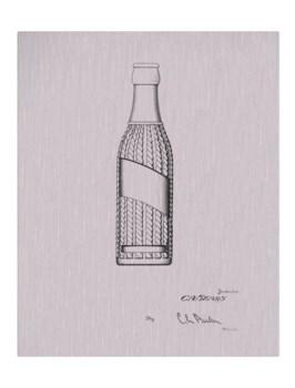 Vintage Soda Bottle V-white  -Fashion and Entertainment