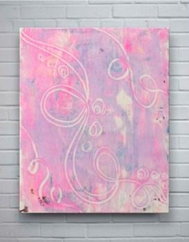 Pink Swirl II-Abstract
