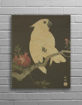 Parrot Hemp Panel-Animals and Nature