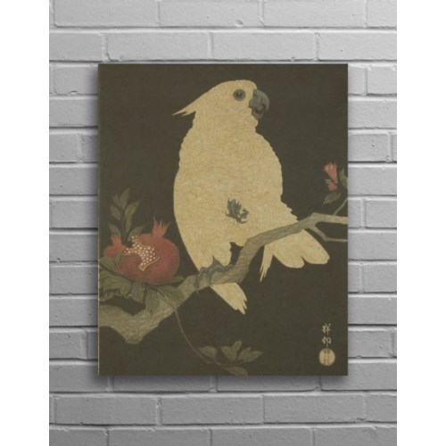 Parrot Hemp Panel-Animals and Nature