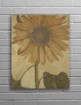 Sunflower Hemp Panel-Floral and Botanical
