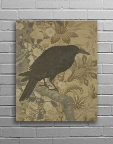 Crow Hemp Panel-Animals and Nature