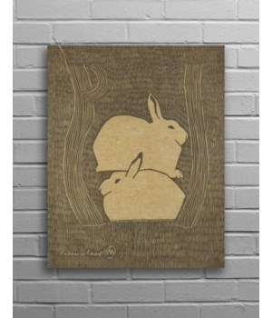 Bunny Hemp Panel-Aminals and Nature