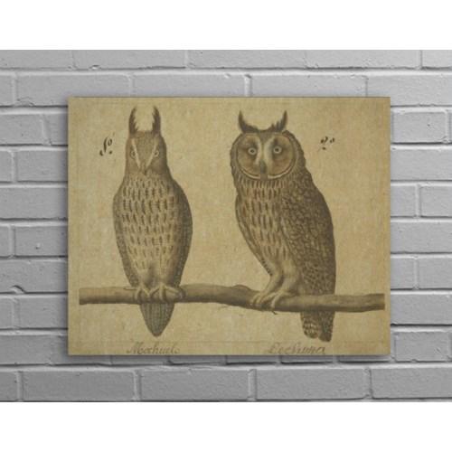 Owls Hemp Panel-Animal and Nature