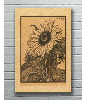 SUNFLOWER ETCHING Hemp Panel