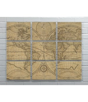 WORLD MAP Hemp Panel