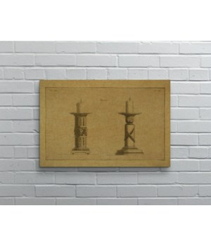 CANDLESTICK Hemp Panel-Decorative Elements