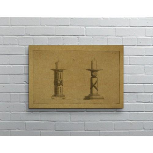 CANDLESTICK Hemp Panel-Decorative Elements
